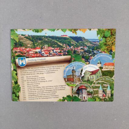 """Anichtskarte """"Freyburg Unstrut ein Staatlich anerkannter Erholungsort"""""""